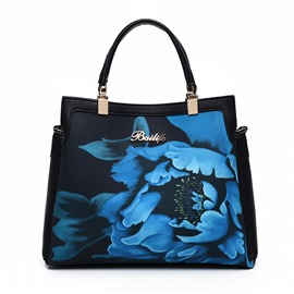 Ericdress Vogue Blue And White Porcelain Print Handbag