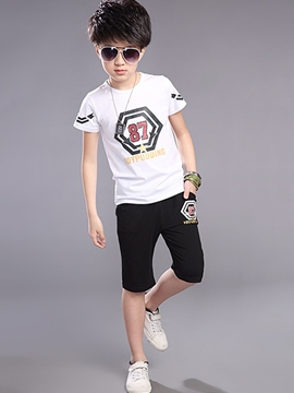 Ericdress Short Sleeve Boys Sports Outfit