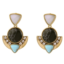Ericdress Natural Stone Inlaid Earrings
