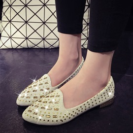 Ericdress Shining Rhinestone Point Toe Flats