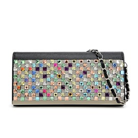 Ericdress Colorful Diamante Crossbody Bag