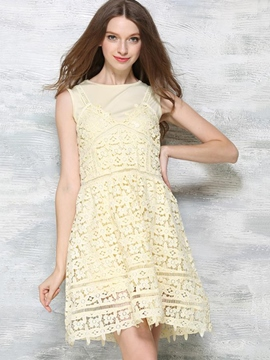 Ericdress Sweet Two-Piece Lace Dress Suit