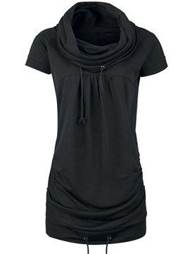 Ericdress Slim Solid Color Heap T-Shirt