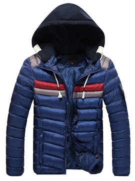 Ericdress Thicken Warm Hood Zip Vogue Men's Winter Coat
