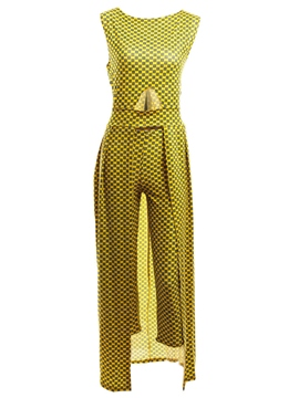 Ericdress Print Hollow Jumpsuits Pants