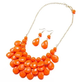 Ericdress Orange Resin Design Jewelry Set