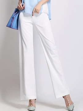 Ericdress Fashion Solid Color Wide Legs Pants