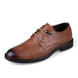 Ericdress Embossed Bush Off Lace up Men's Oxfords