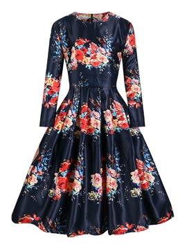 Ericdress Vintage A-Line Expansion Casual Dress