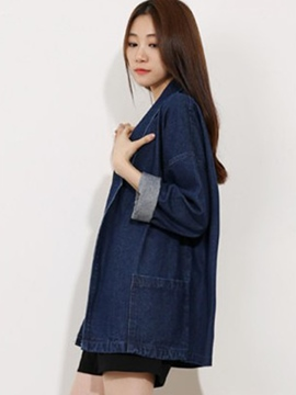 Ericdress Loose Casual Denim Outerwear
