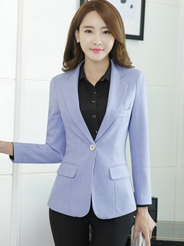 Ericdress Slim One-Button Polo Blazer