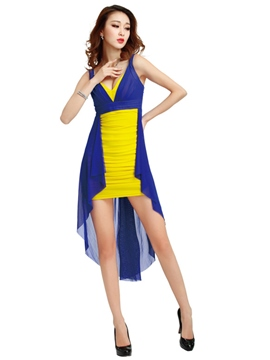 Ericdress Color Block Vogue Iregular Sexy Clubwear