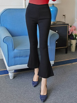 Ericdress Simple Nine Points Flared Pants