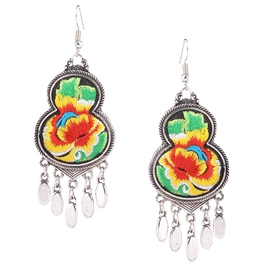 Ericdress Gourd Shaped Embroidery Earrings