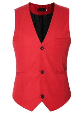 Ericdress Multi-Color Simple Slim Men's Vest