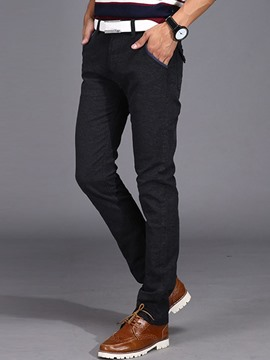 Ericdress Plain Plus Size Slim Men's Pants