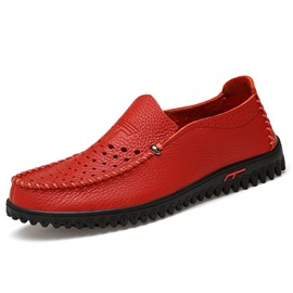 Ericdress PU Cut Out Slip-On Men's Casual Shoes