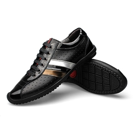 Ericdress British Patchwork Lace up Men's Casual Shoes