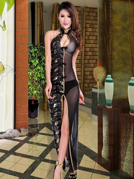 Ericdress Vogue Patchwork Hollow Sexy Slit Clubwear