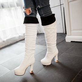 Ericdress PU Platform Knee High Boots