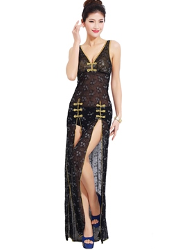 Ericdress Length Lace Slit Sexy Clubwear