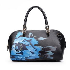Ericdress Simple Elegant Peony Print Handbag