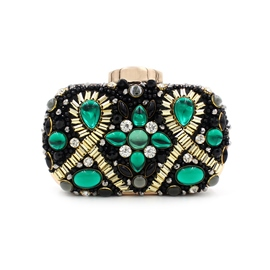 Ericdress Ladylike Diamante Embroidery Evening Clutch