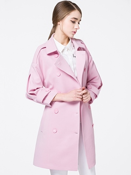 Ericdress Plain Lace-Up Slim Trench Coat