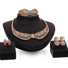 Ericdress Alloy Hollow-Out Diamante Jewelry Set