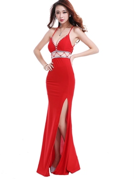 Ericdress Diamonds Slit Hollow Sexy Clubwear