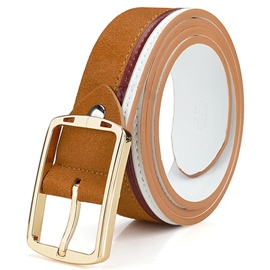 Ericdress Men's Patchwork Nubuck Leather Belt
