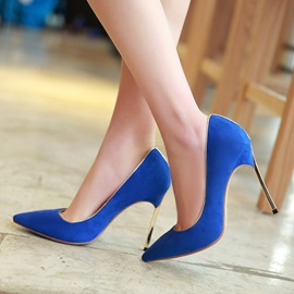 Ericdress Suede Point Toe Ultra High Pumps