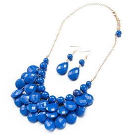 Ericdress Chic Blue Resin Alloy Jewelry Set