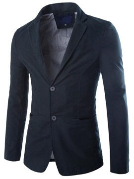 Ericdress Plain Simple Slim Casual Men's Blazer