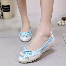 Ericdress Cute Bowtie Contrast Color Flats