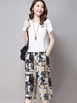 Ericdress Casual Print Suit
