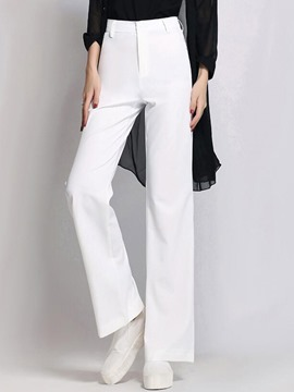 Ericdress Simple Solid Color Wide Legs Pants