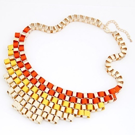 Ericdress Geometric Metal Short Necklace