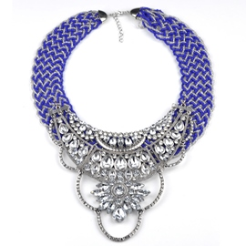 Ericdress Alloy Flowers Beading Necklace