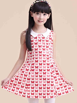 Ericdress Color Block Girls Dress