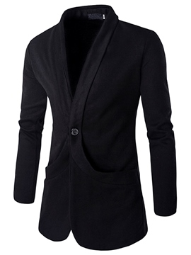 Ericdress Plain Slim Casual Men's Knit Blazer