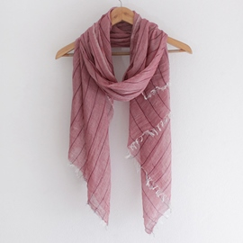 Ericdress Literary Stripe Cotton Scarf