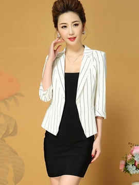 Ericdress Slim Stripped Formal Blazer