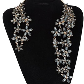 Ericdress Alloy Rhinestone Flowers Necklace