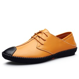 Ericdress British PU Thead Lace-Up Men's Oxfords