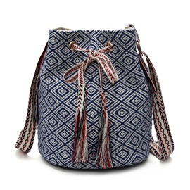 Ericdress Ethnic Geometric Tassel Crossbody Bag