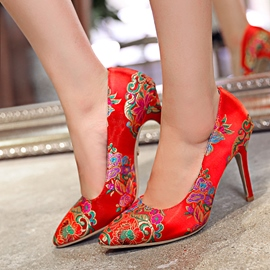 Ericdress Charming Red Ethnic Wedding Shoes