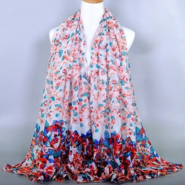 Ericdress Floral Printed Voile Scarf