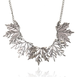 Ericdress Maple Leaves Pendant Necklace