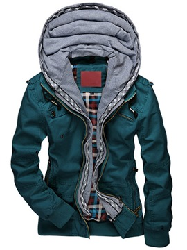 Ericdress Patchwork Hood Casual Men's Jacket